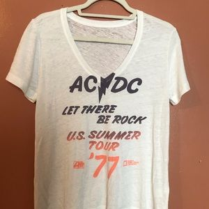 AC/DC SUPER SOFT SLOUCHY FIT BAND TEE